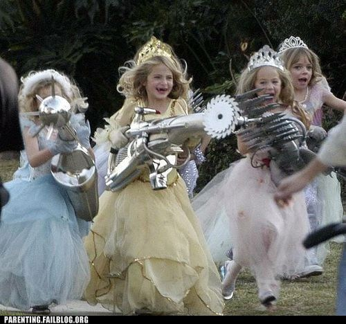 girls g rated guns Parenting FAILS Party princess weapons