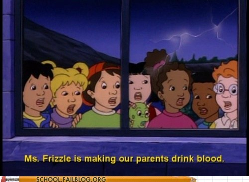 drinking blood,ms-frizzle,satanist,The Magic School Bus
