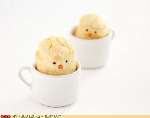 bread,chicks,cup,peek,rolls