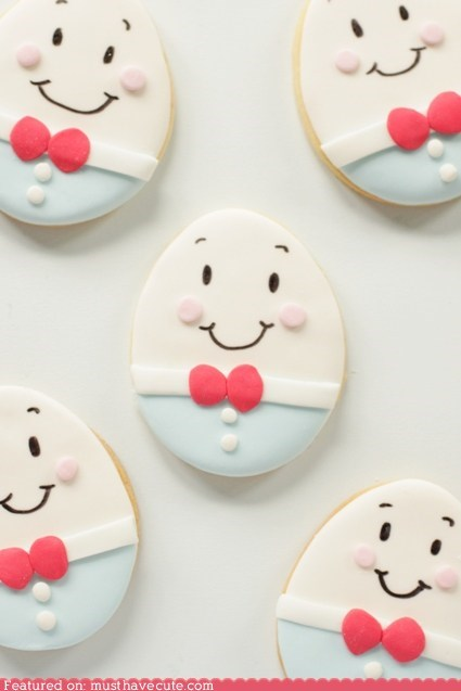 bow tie cookies egg epicute face humpty dumpty - 6091420160
