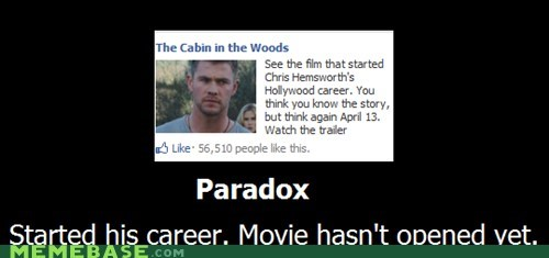 career,chris hemsworth,hilarious,Movie,paradox