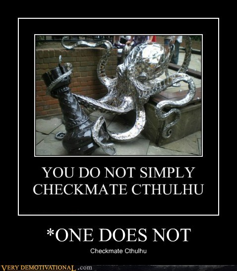 art checkmate cthulhu octopus Pure Awesome