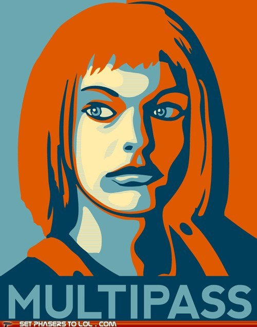 barack obama best of the week hope leeloo milla jovovich multipass poster the fifth element - 6091865088