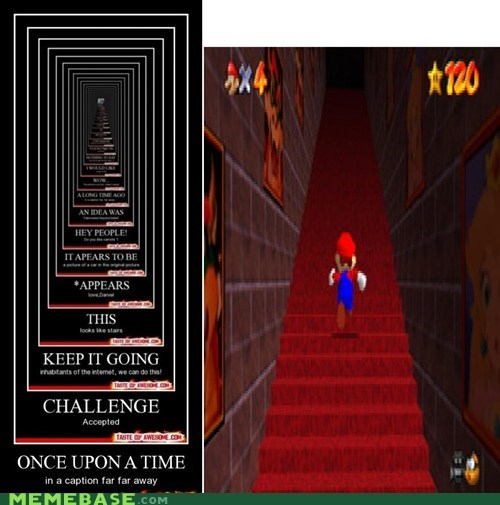 64,endless,mario,stairways,very demotivational,video games