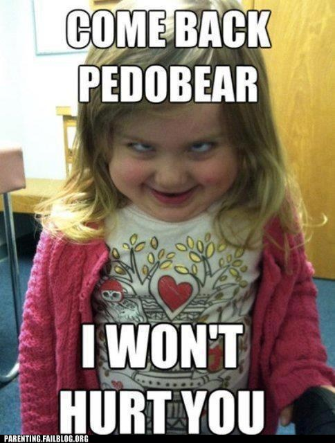 creepy little girl pedobear toddler - 6091980288