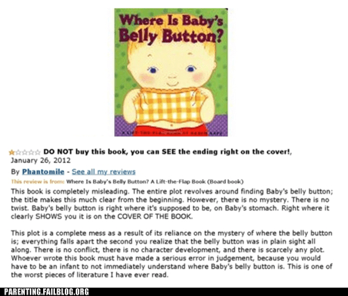 belly button book review Spoiler Alert - 6092003584