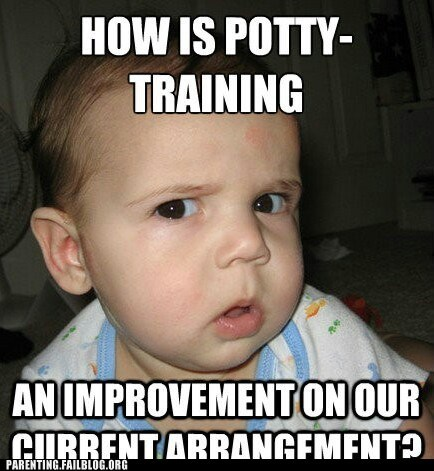 baby funny photo potty training