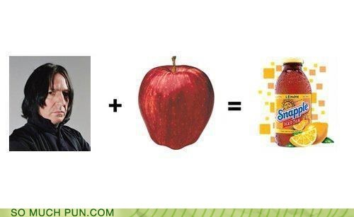 addition,apple,equation,Hall of Fame,Harry Potter,similar sounding,snape,snapple