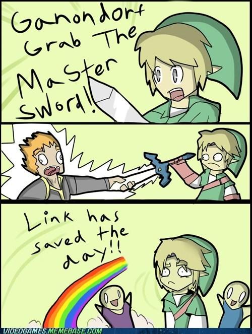 Ganondorf link master sword meme triforce - 6092631808