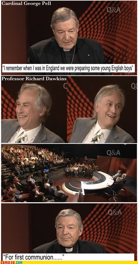boys catholicism debate english pedo richard dawkins troll TV