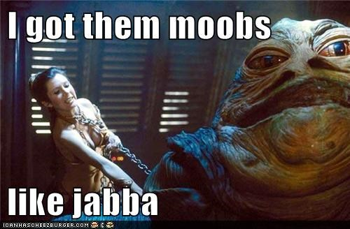 carrie fisher,jabba the hutt,maroon 5,moobs,moves like jagger,Princess Leia,star wars