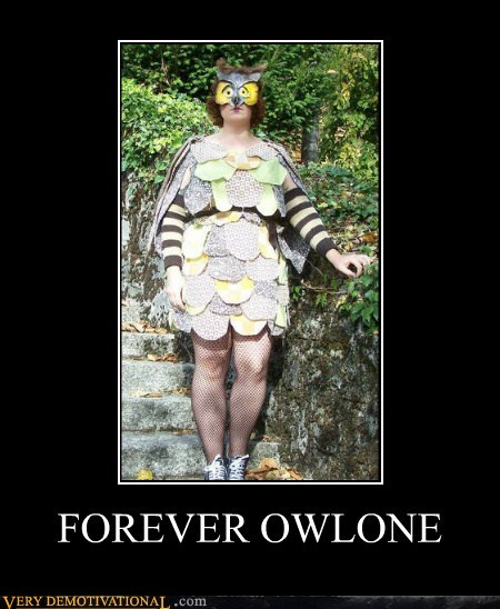 costume forever alone hilarious Owl wtf - 6093405184