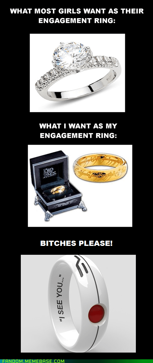 It Came From the Interwebz Lord of the Rings marriage Portal ring - 6093489664