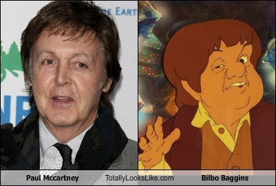 Bilbo Baggins,celeb,funny,paul mccartney,TLL