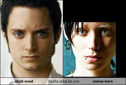 actor,celeb,elijah wood,funny,Rooney Mara