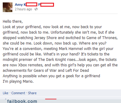 Failbook: Nerdgasm II: Ladies Strike Back