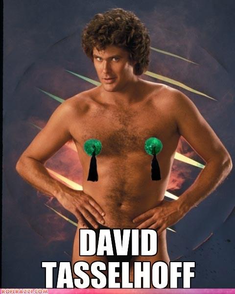 actor celeb david hasselhoff funny pun shoop
