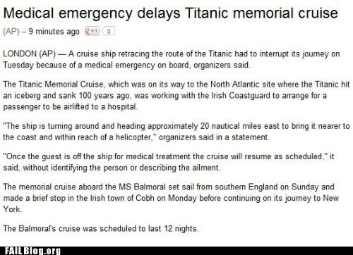 irony,Probably bad News,titanic