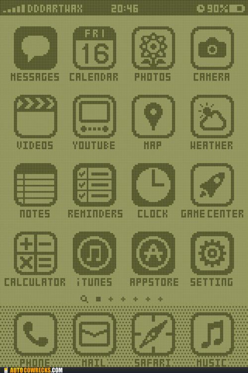 iphone menu nokia pixels - 6094705408
