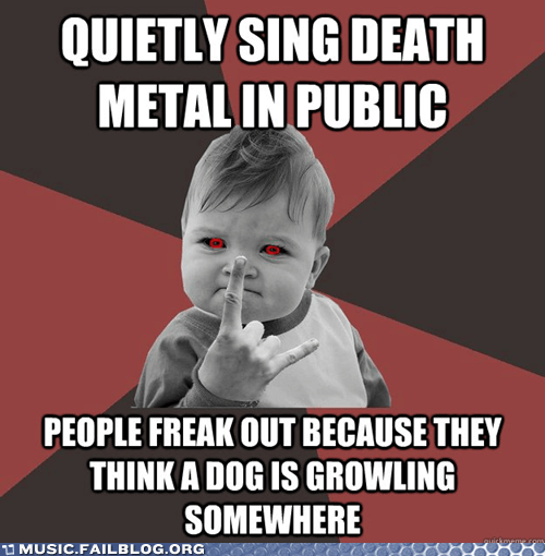 death metal,death metal success kid,meme,metal,success kid