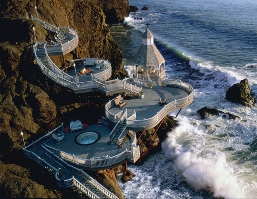cliffs,deck,Hawaii,sea side
