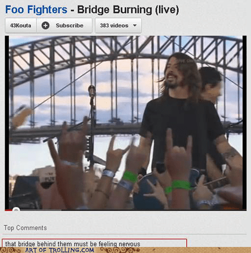 bridge bridge burning foo fighters youtube - 6094933760