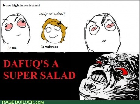 high noms Rage Comics salad soup