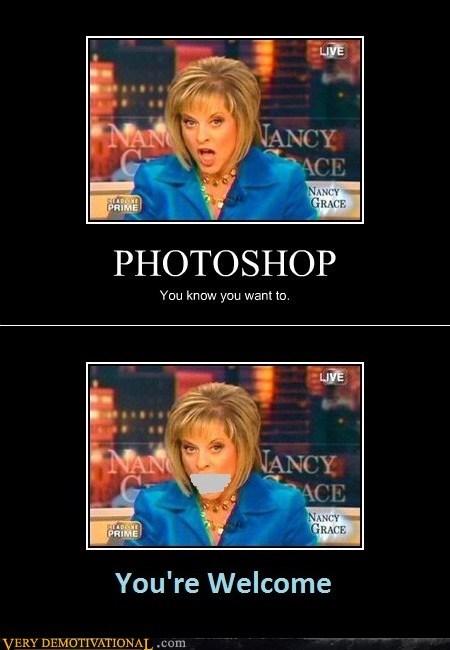 hilarious Nancy Grace photoshop stop talking - 6094996992