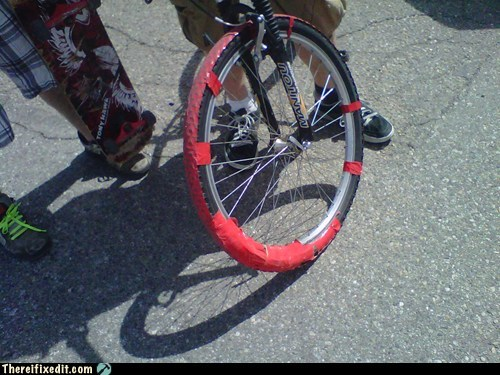 airtight,bicycle,duct tape,tight,tire,wheel
