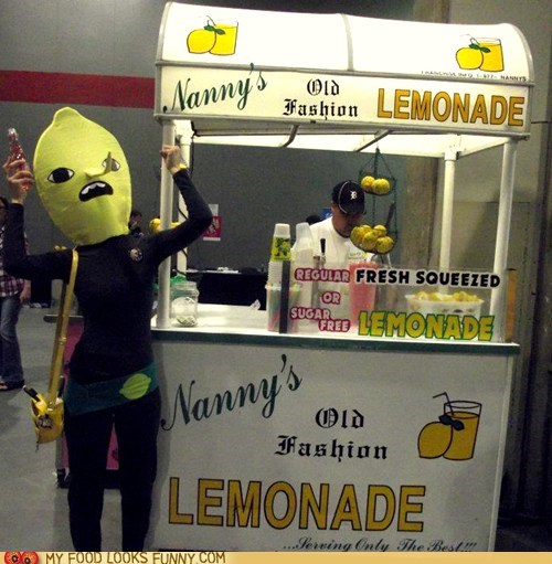 costume head lemon lemonade stand Terrifying - 6095211520