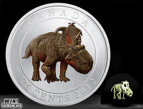 Canada,coin,currency,dinosaur,Hall of Fame,money