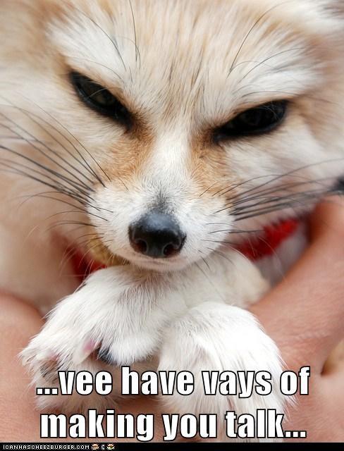 accent evil fennec fox german smile talk villain - 6095335424