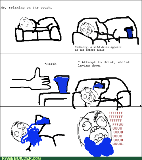 drinking gu guy lazy Rage Comics water - 6095355136