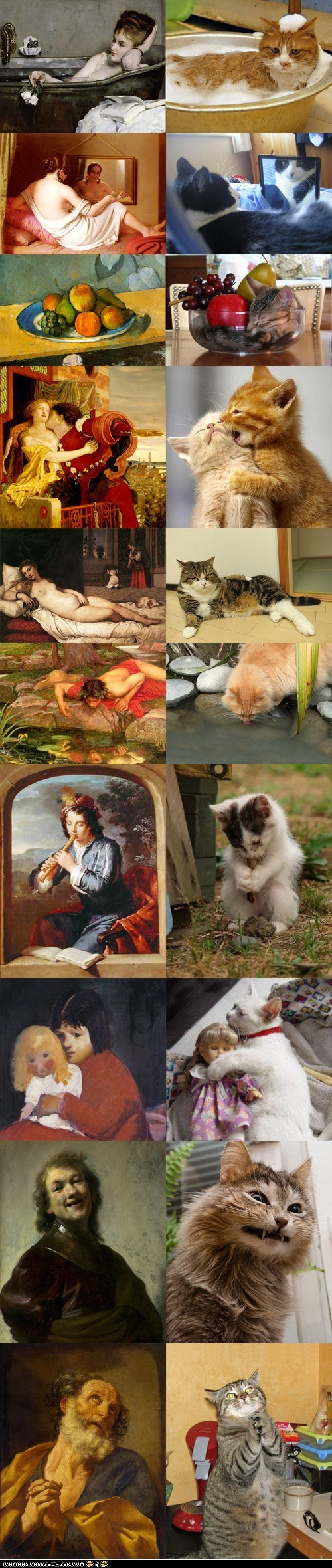 art,best of the week,Cats,classical,Hall of Fame,imitation,multipanel,painting,paintings