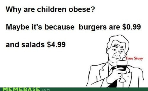 a dollar america burgers obesity Rage Comics salad - 6095377408