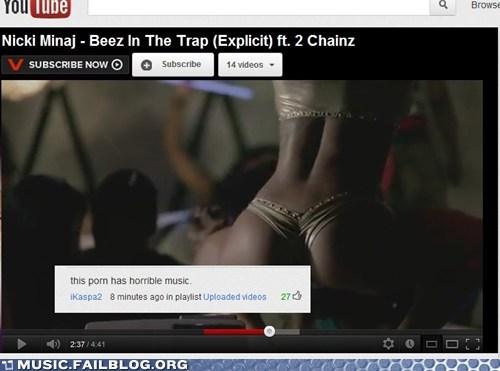 beez in the trap,comments,hip hop,nicki minaj,pop,youtube,youtube comments