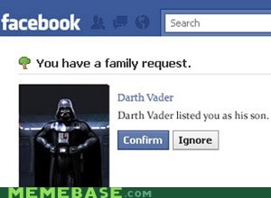 darth vader,facebook,family,star wars