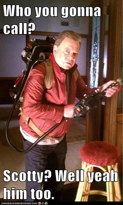 Ghostbusters,proton pack,scotty,Shatnerday,who you gonna call,William Shatner