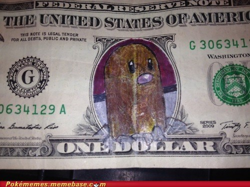art,diglett,diglett wednesday,dollar bill,Memes,money