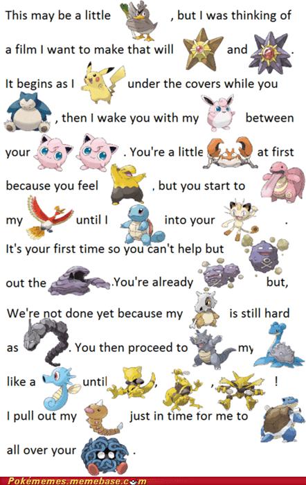 best of week i have the weirdest boner love story meme Memes Pokémemes pokepuns puns - 6095761408