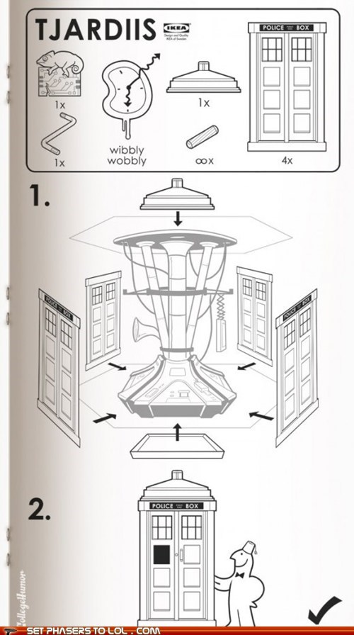 assembly best of the week doctor who ikea instructions manual tardis wibbly wobbly timey wimey - 6095960576