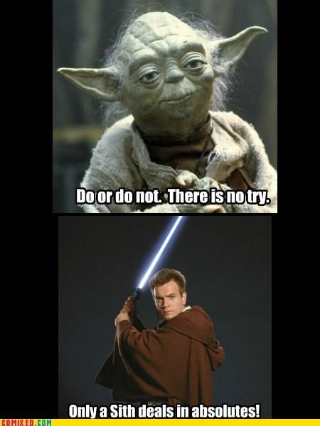 ewan mcgregor george lucas obi-wan kenobi Revenge of the Sith star wars yoda - 6096187392