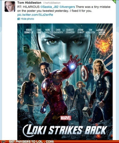 avengers chris hemsworth iron man loki mistake robert downey jr strikes back title change tom hiddleston - 6096233216