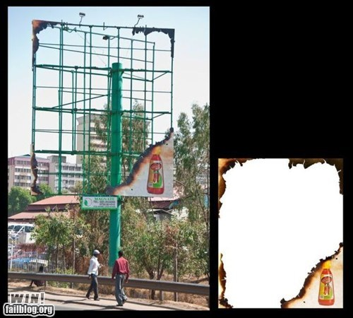 Ad billboard clever design hot sauce - 6096465152