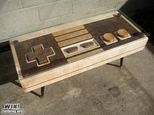 coffee table,controller,DIY,nerdgasm,NES