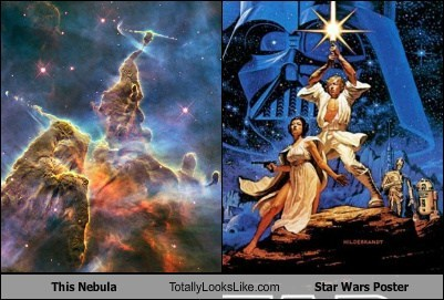 This Nebula Totally Looks Like Star Wars Poster