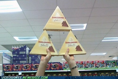 candy,IRL,sweet,toblerone,triforce,video games
