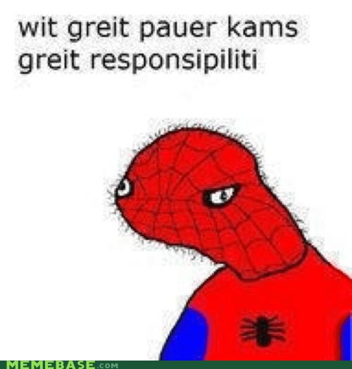 dolan great power responsibility Spider-Man - 6097182976