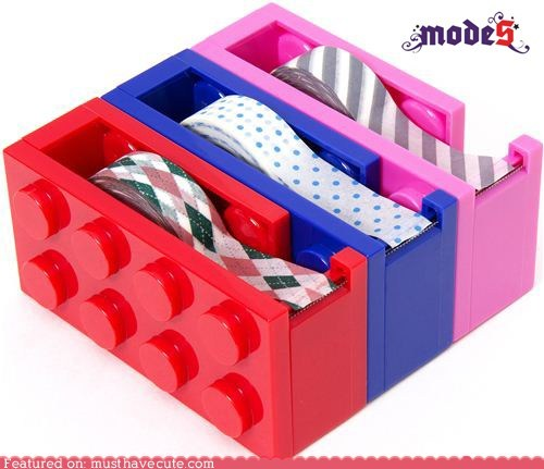 blocks dispenser lego plastic tape - 6097757952
