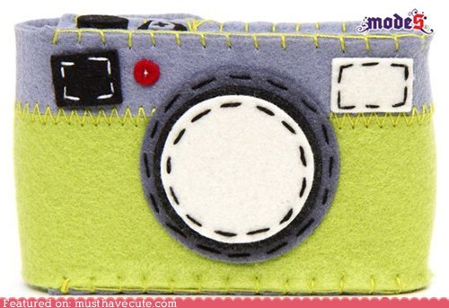 camera case felt handmade stitching - 6097765376